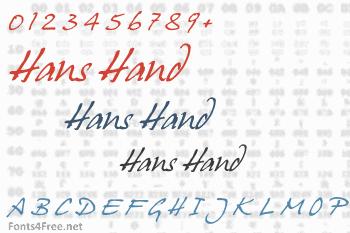 Hans Hand Font
