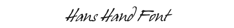 Hans Hand Font Preview