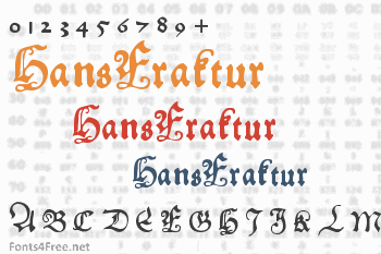 HansFraktur Font