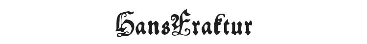 HansFraktur Font Preview