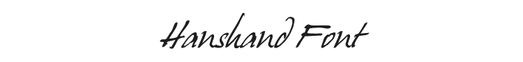 Hanshand Font Preview