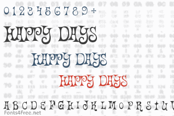 Happy Days Font