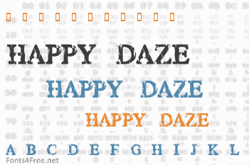 Happy Daze Font
