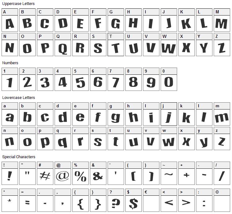 Happy Happy Joy Joy Font Character Map