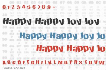 Happy Happy Joy Joy Font
