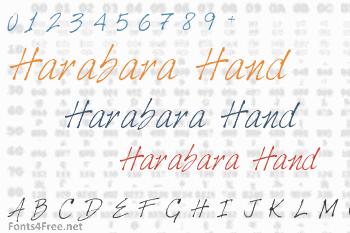 Harabara Hand Font