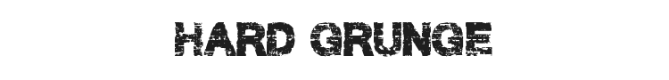 Hard Grunge Font Preview