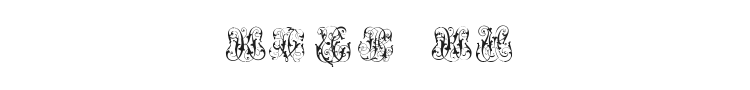 Hard to Read Monograms Font Preview