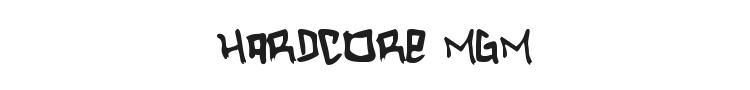 Hardcore Mgm Font