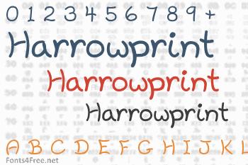 Harrowprint Font