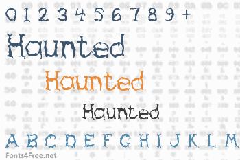 Haunted Font
