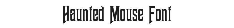 Haunted Mouse Font