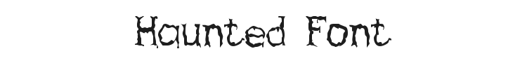 Haunted Font Preview