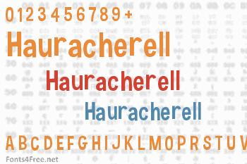 Hauracherell Font