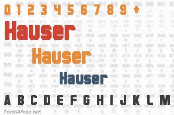 Hauser Font