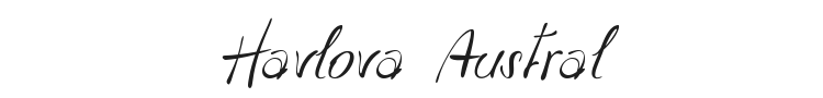 Havlova Austral Font Preview