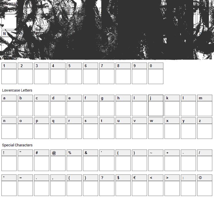 Hayden Panettiere Bats Font Character Map