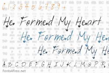 He Formed My Heart Font