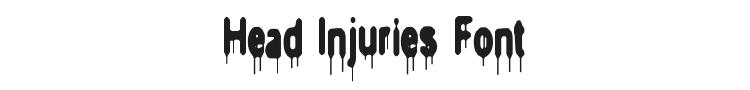 Head Injuries Font