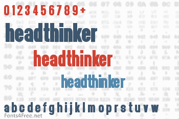Headthinker Font