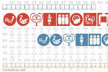 Healthcare Symbols Font