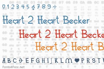Heart 2 Heart Becker Font