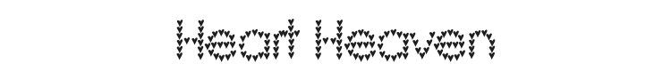 Heart Heaven Font Preview
