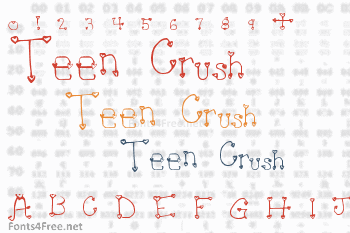 Heartache Teen Crush Font