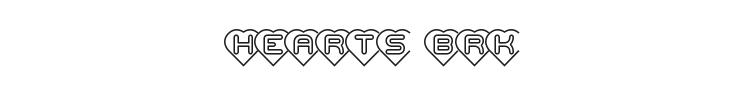 Hearts BRK Font