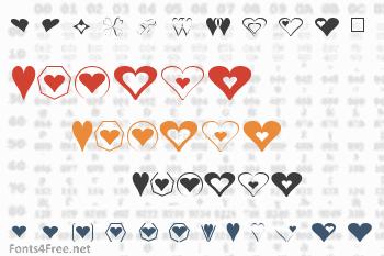 Hearts Font