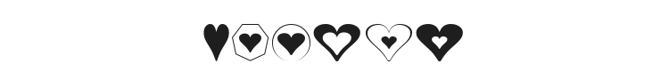 Hearts Font Preview