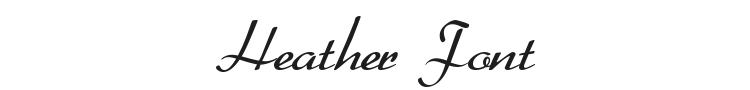Heather Font Preview