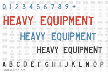 Heavy Equipment Font