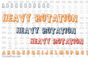 Heavy Rotation Font