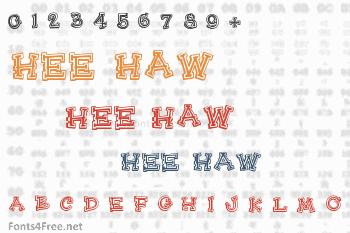 Hee Haw Font