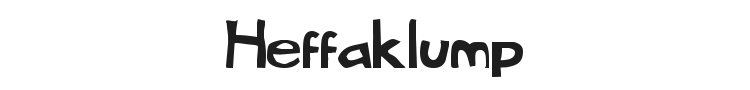 Heffaklump Font Preview