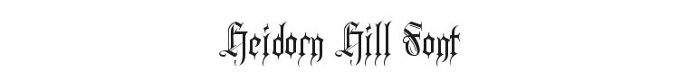 Heidorn Hill Font