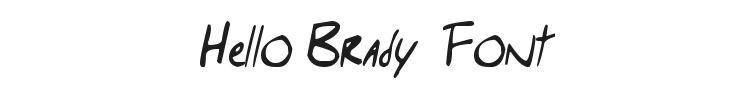 Hello Brady  Font Preview