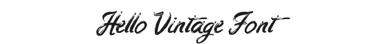 Hello Vintage Font Preview