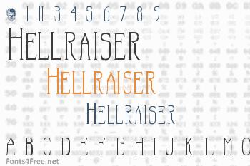 Hellraiser Font