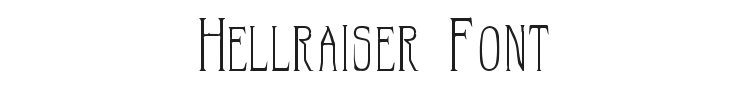 Hellraiser Font Preview