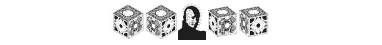 Hellraiser Puzzlebox Bats Font