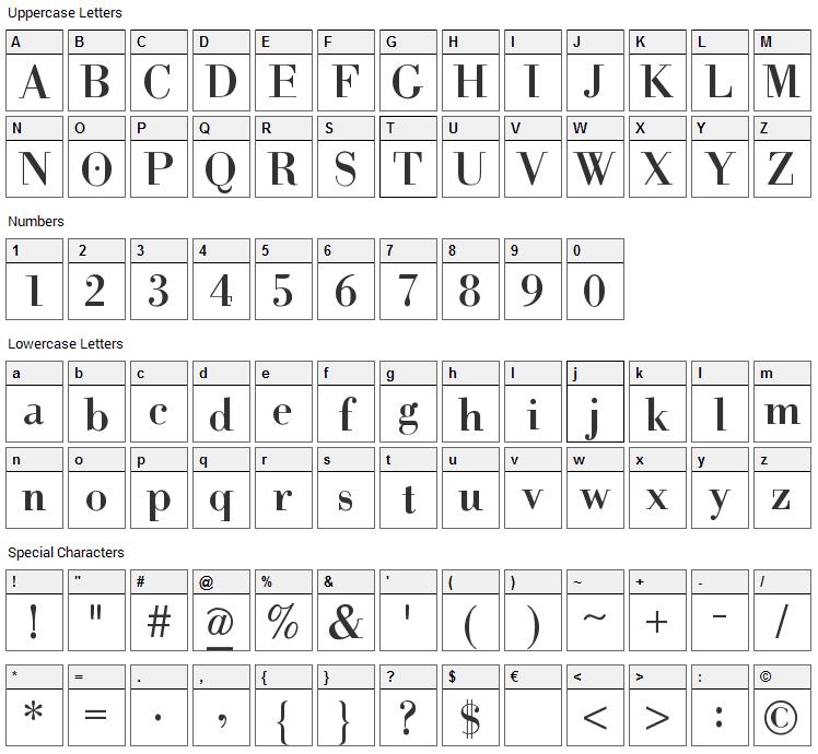 Help Us Giambattista Font Character Map