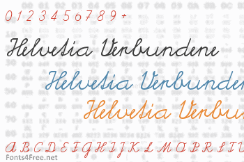 Helvetia Verbundene Font