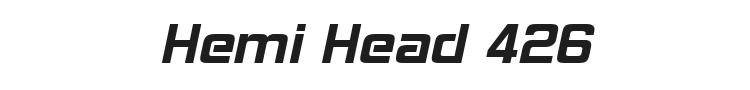 Hemi Head 426 Font Preview