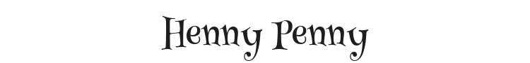 Henny Penny Font Preview