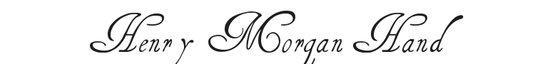 Henry Morgan Hand Font Preview