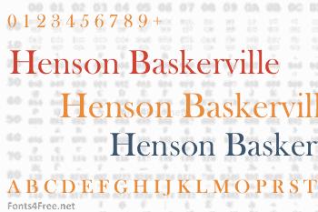 Henson Baskerville Font