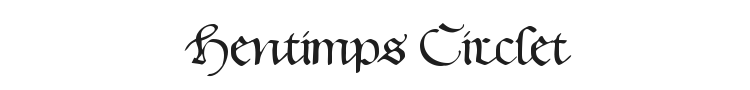 Hentimps Circlet Font Preview