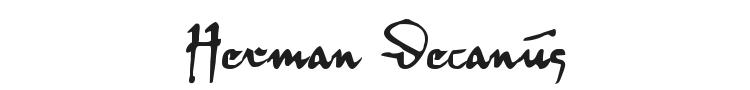 Herman Decanus Font